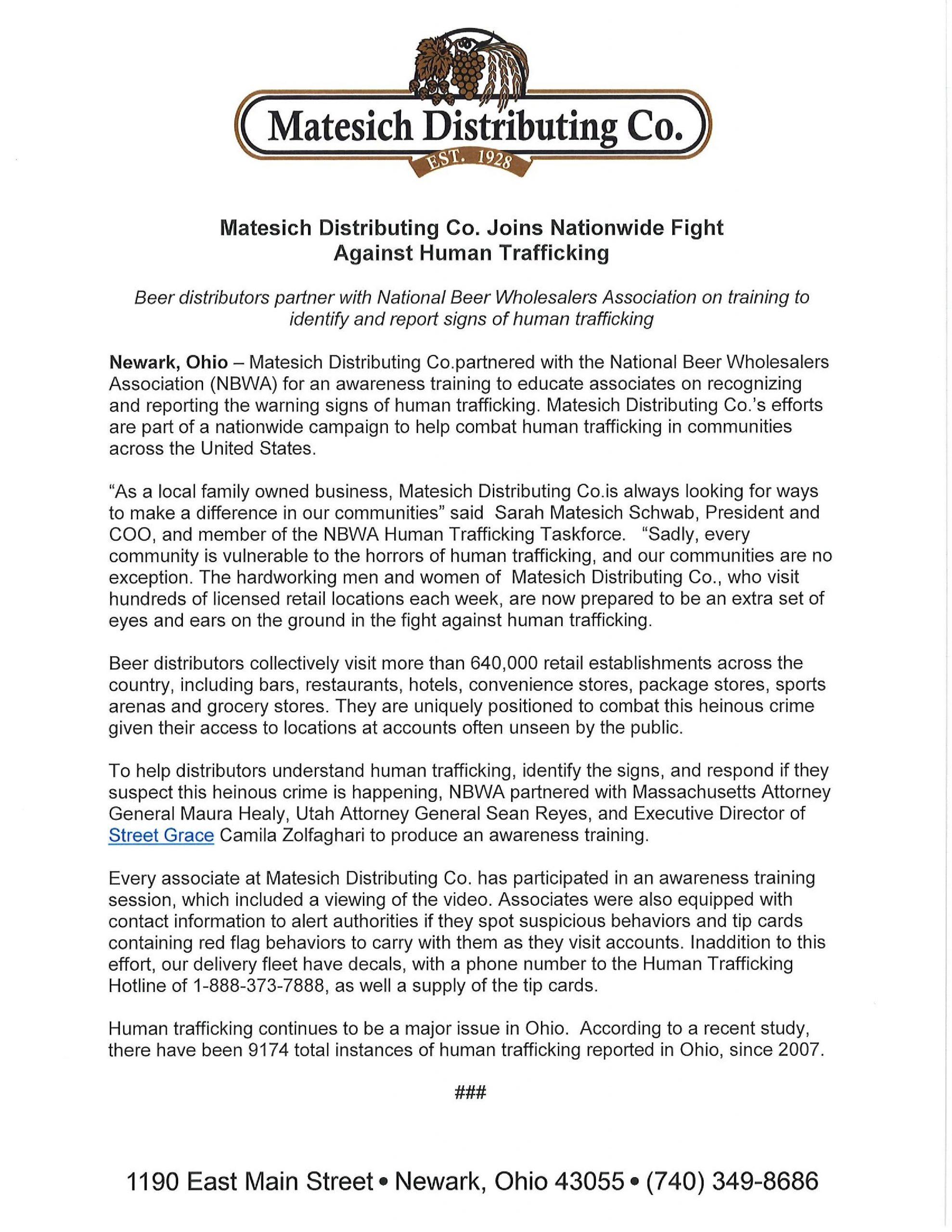 Distributors Against Human Trafficking Certified